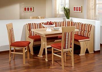 Baúles-comedor madera de haya de decoración; Rinconera, 2 sillas y ...