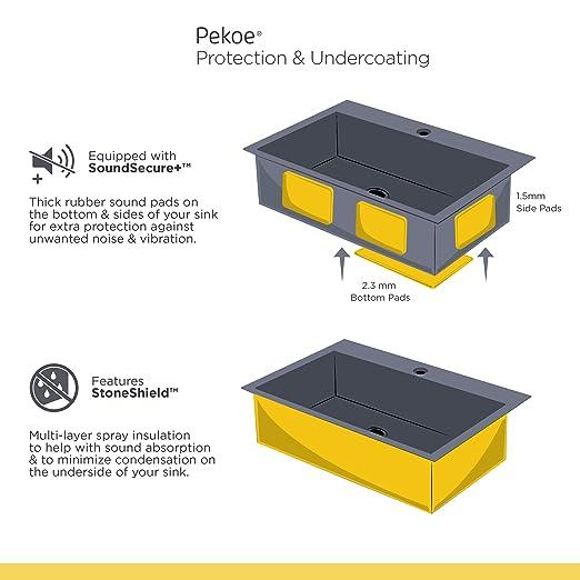 American Standard 18CR 9351800 075 Pekoe Undermount 35x18 Offset
