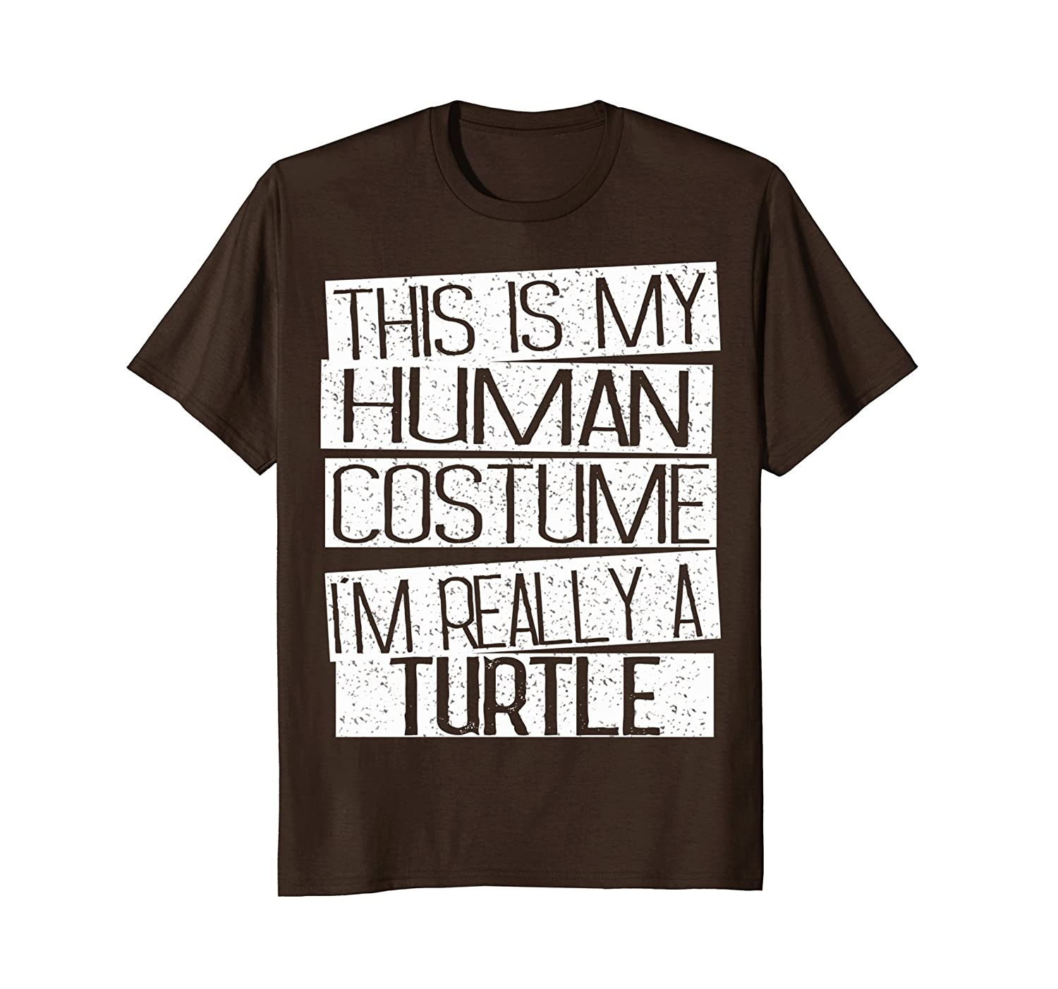 This Is My Human Costume I'm Really A Turtle T-Shirt-mt