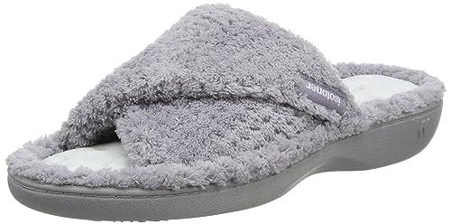 isotoner Ladies Popcorn Open Toe Slipper, Zapatillas de Estar por casa para Mujer, Gris (Pale Grey PGR), EU: Amazon.es: Zapatos y complementos