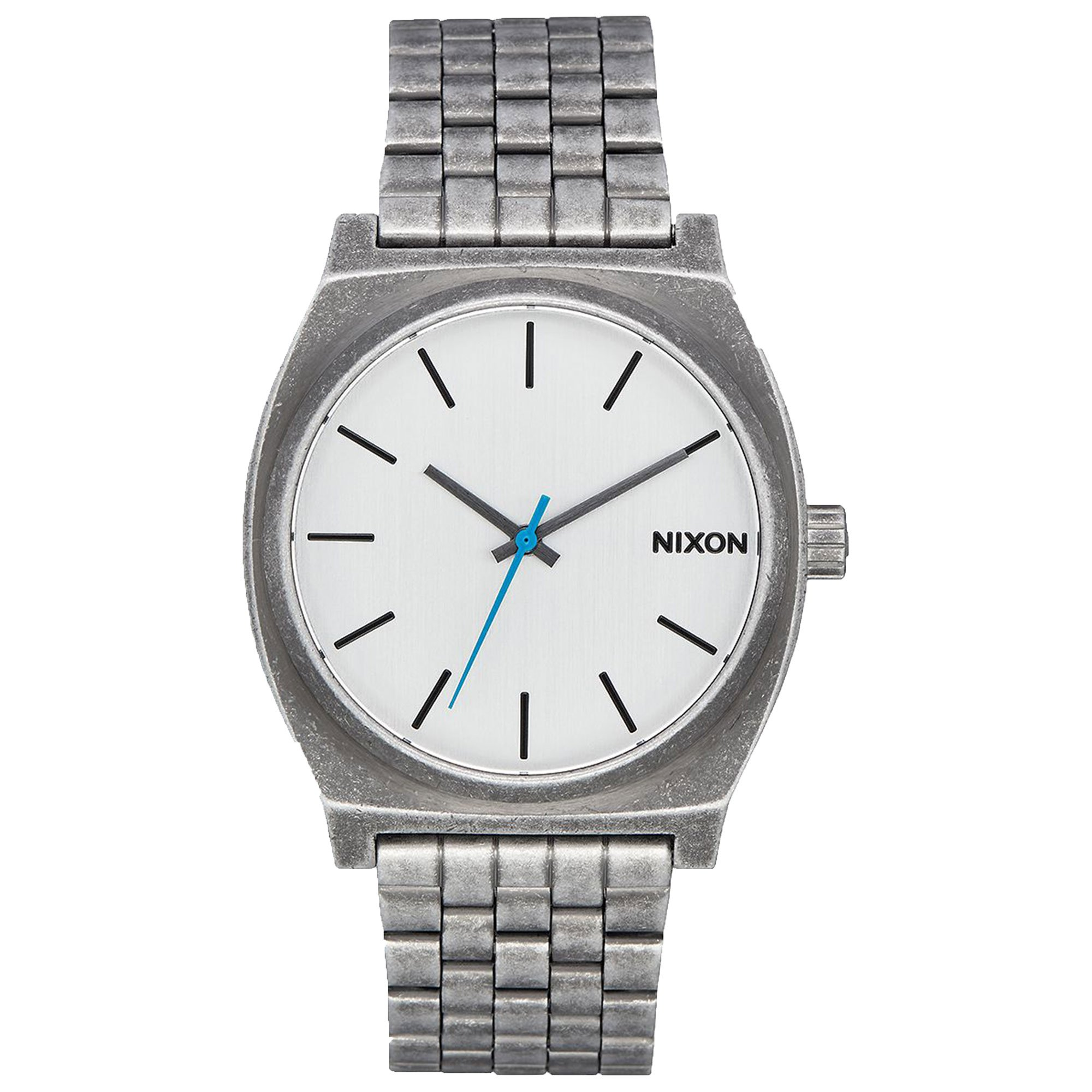 Nixon Time Teller , 37 mm mens watches A045-2701 - Silver / Antique