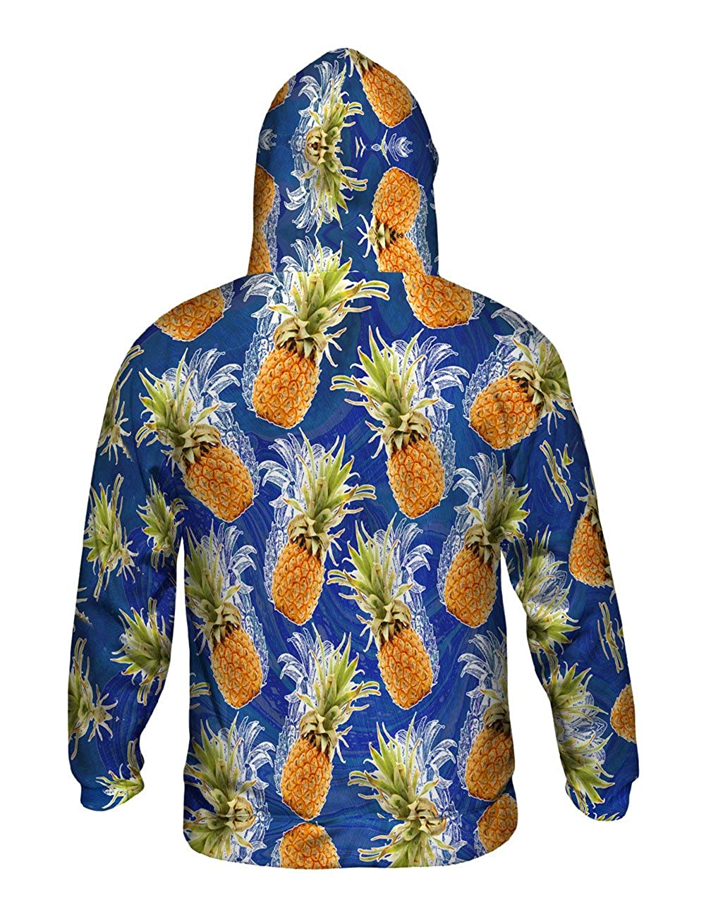 Summer Pineapple Yizzam Mens Hoodie Sweater Allover Print