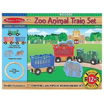 Melissa & Doug Zoo Animal Train Set: Melissa & Doug: Toys & Games