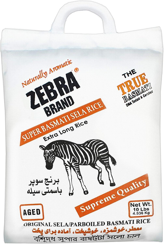 Zebra Basmati Rice (Sela) - 10 lbs