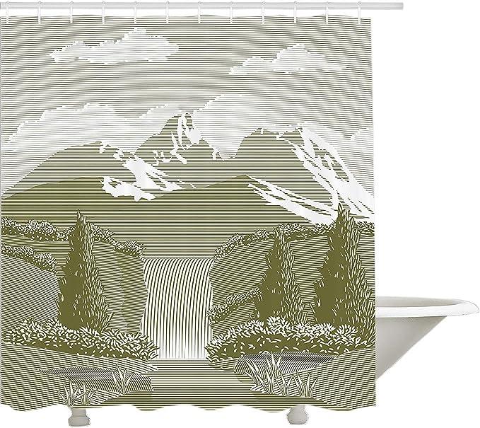 Yeuss Colección de decoración de cascada natural, una