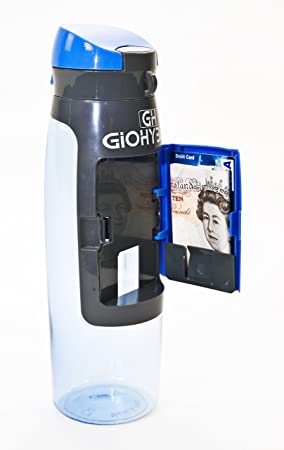Water Bottle with Storage Compartment - Hydration Travel Bottles that can Hold Business cards Credit  sc 1 st  Amazon UK & Water Bottle with Storage Compartment - Hydration Travel Bottles ...