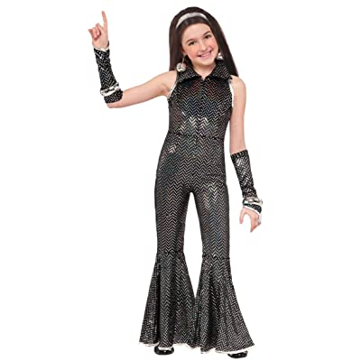 Forum Novelties Child's Boogie Girl Disco Costume Jumpsuit, Small: Toys & Games