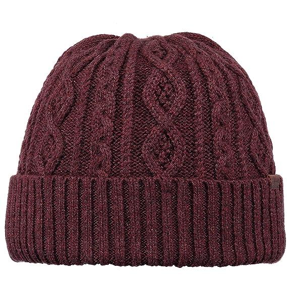 7108fe18 Barts Rivertun Beanie Burgundy One Size: Amazon.co.uk: Clothing