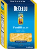De Cecco Semolina Pasta, Fusilli No.34, 1 Pound (Pack of 5)