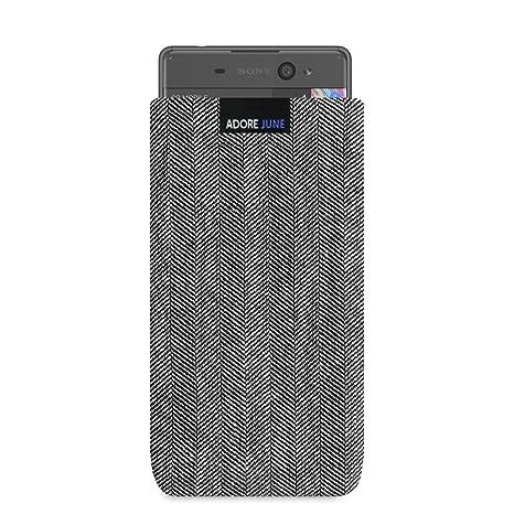 Adore June Funda para Sony Xperia XA1 Ultra/XA Ultra [Serie Business] Material Característico [Tejido en Espiga] Efecto Limpiador de Pantalla para ...
