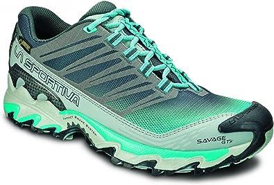 La Sportiva Savage GTX - Zapatillas trail running para mujer - GTX Turquesa Talla 39 2015: Amazon.es: Zapatos y complementos