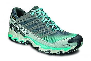 La Sportiva Savage GTX - Zapatillas trail running para mujer - GTX Turquesa Talla 38,5 2015: Amazon.es: Deportes y aire libre