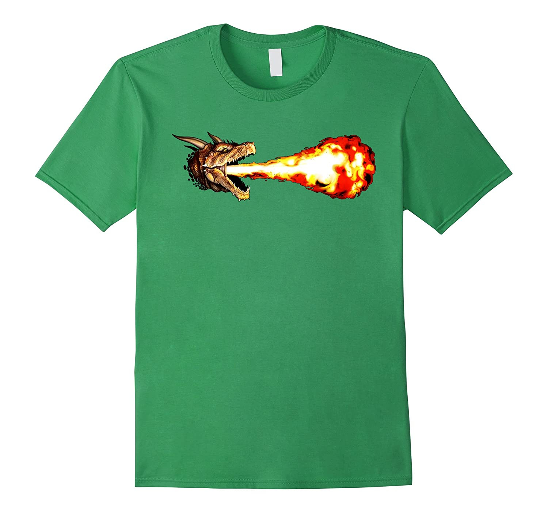 TShirtsFTW Dragon Breathing Fire T-Shirt-Vaci