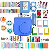 ZWOOS 13 in 1 Accessori Kit per Fujifilm Instax Mini 8/ Mini 9, Inclusi: Caso Mini 8 / Album / Appendere Cornici / Film Cornici / Sticker Confini / Confine Adesivi / Lente / Filtri / Strisce / Adesivi per Gli Angoli(Cobalt Blue)