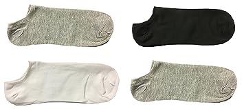 Yanoir 4 Pares Calcetines Calcetines Hombre Modelo Fantasmino Pariscarpa – Calcetines Sport Tinta Unita TG.