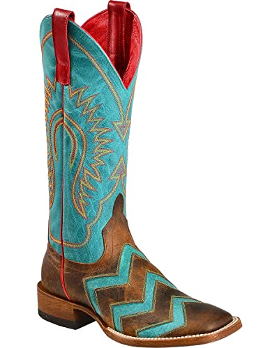 59adbbffee0 Macie Bean Women's Wave On Cowgirl Boot Square Toe - M9011