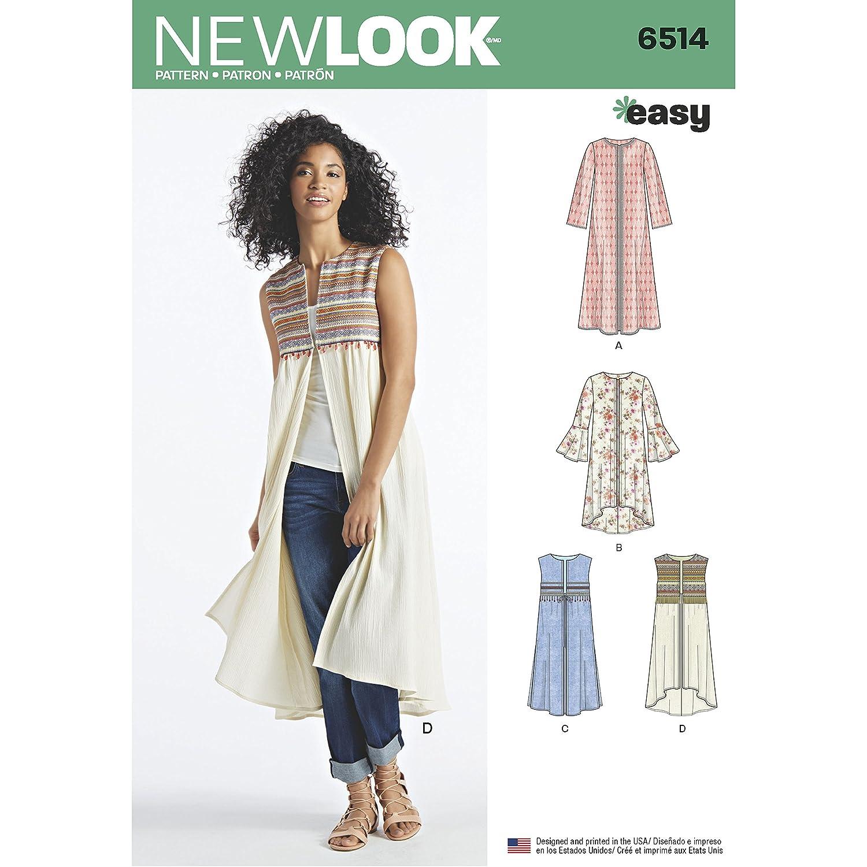 Simplicity Patrón New Look patrón de Costura para Abrigo de Mujer o ...