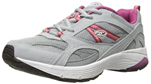 Dr. Scholl's Women's Curry Fashion Sneaker, Grey/Magenta Leather, 6.5 M US