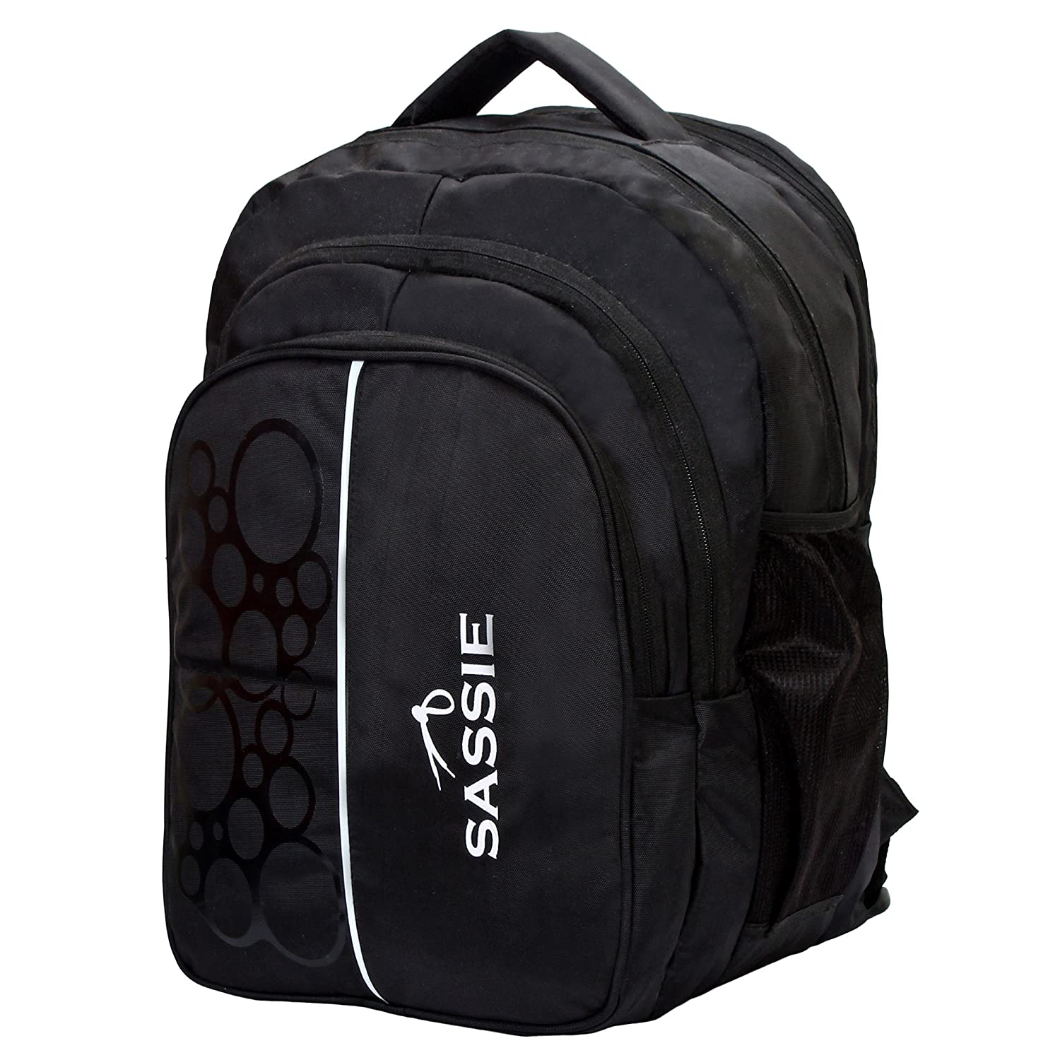 e7f8ed2c8c34 Sassie Polyester 41L Black School and Travel Backpack Bag with 4  Compartments  Amazon.in  Bags