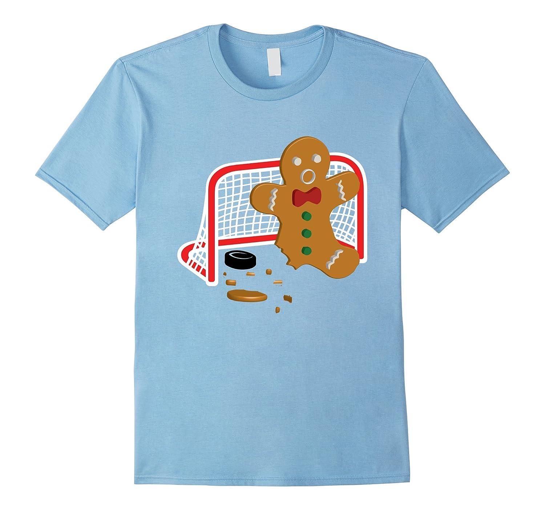 Hockey Goalie Funny Christmas T Shirt Gingerbread Man Goalie Rt