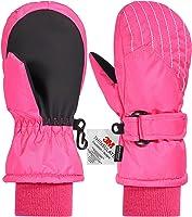 Andake Kids Ski Mittens, Waterproof & Windproof Mittens, Great for 2-7 Years Old Kids