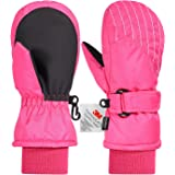 3M Thinsulate Extrem Warm Fäustlinge Winddicht Wasserfest Atmungsaktiv Thermo Handschuhe Winterhandschuhe Kinderhandschuhe Skihandschuhe Kinder Jungen Mädchen 2-7 Jahre