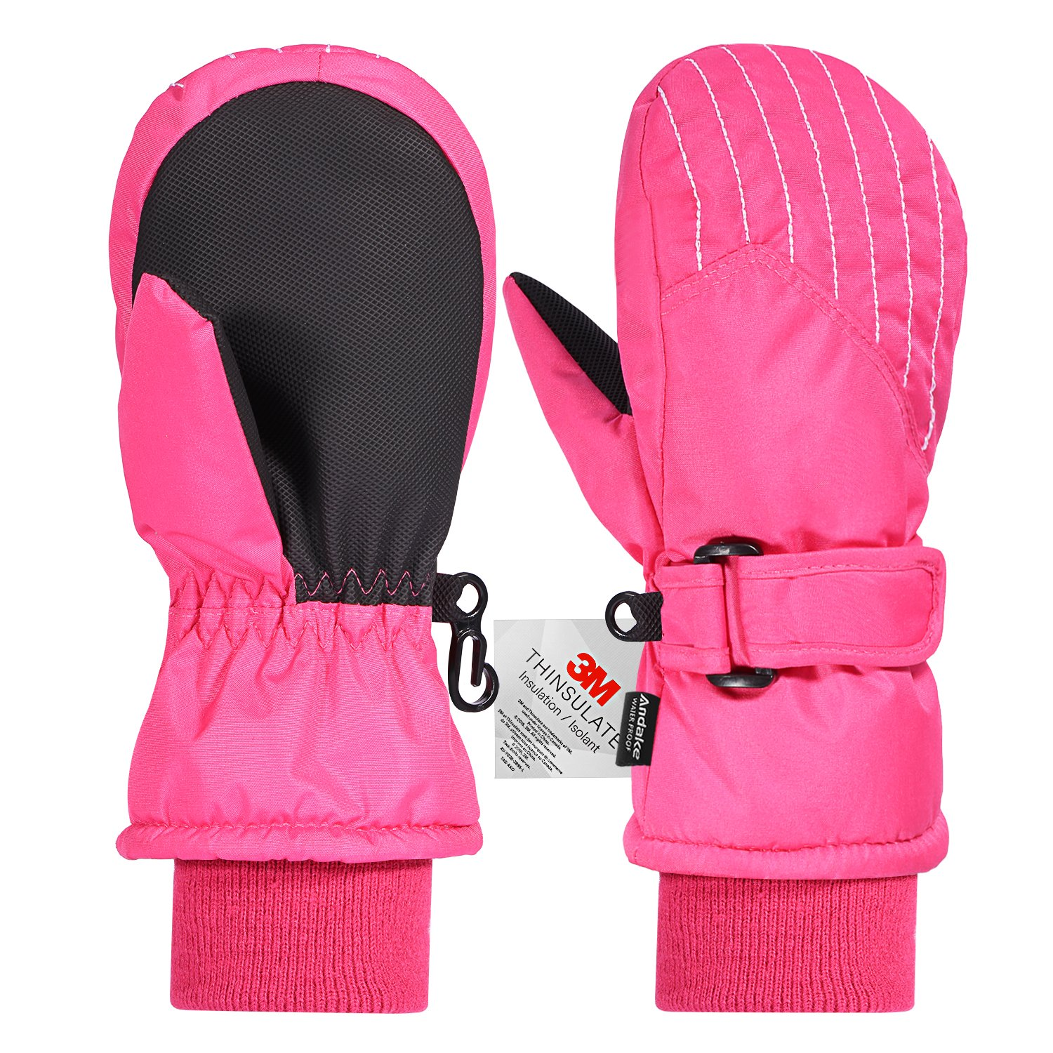 Andake Kids Ski Gloves, Waterproof & Windproof Mittens,Great for 2-7 Years Old Kids kuking