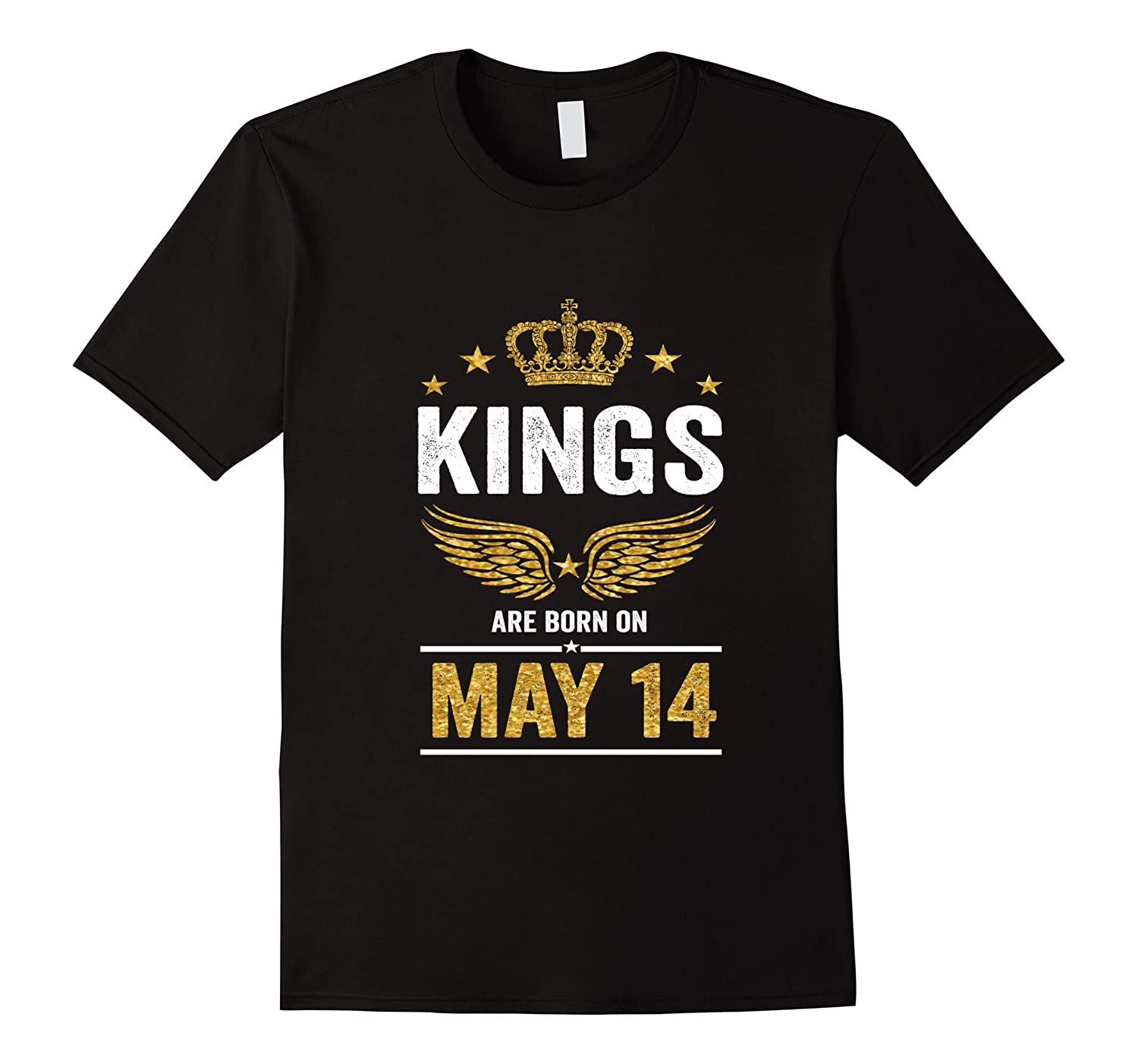 Kings Are Born On May 14 Birthday T-Shirt-Vaci