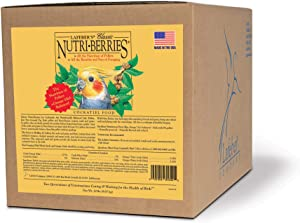 LAFEBER'S Classic Nutri-Berries Pet Bird Food, Made with Non-GMO and Human-Grade Ingredients, for Cockatiels