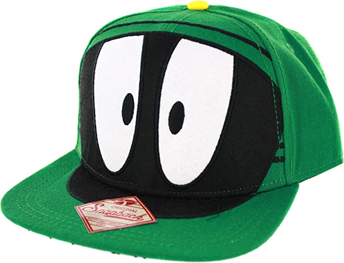 Amazon.com  Looney Tunes Marvin the Martian Big Face Snapback ... 22a9c0b44bc