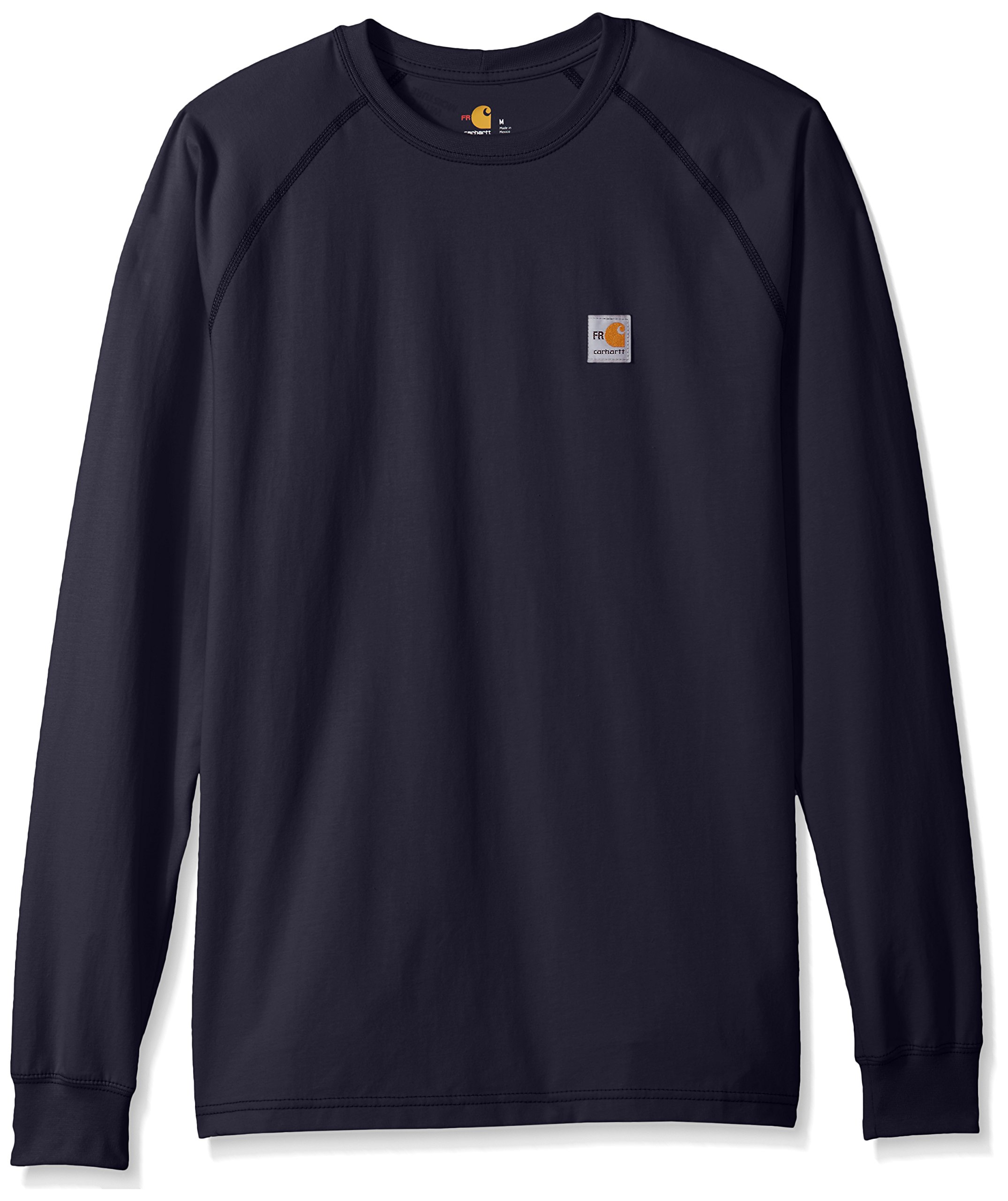 Carhartt Men's Flame-Resistant Force Long Sleeve T-Shirt Class 3, Dark Navy, Medium
