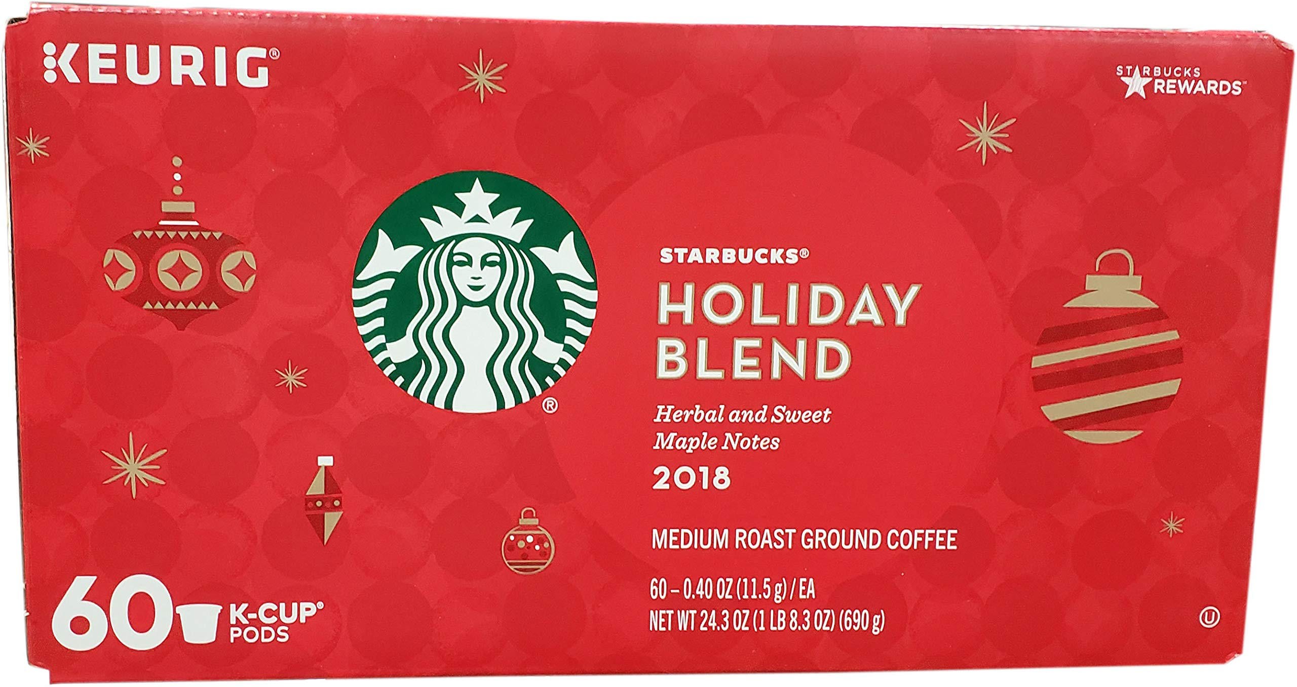 Starbucks Holiday Blend Coffee K-Cups (60 Count) by Starbucks (Image #1)