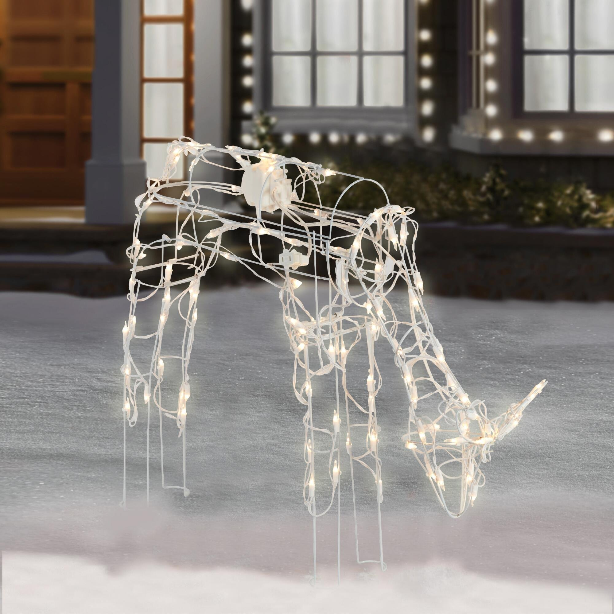2-Piece Lighted Animated Holiday Deer Family - 48'' Animated Buck and 42'' Animated Doe - 210 Clear Lights by Winter Wonder Lane (Image #3)