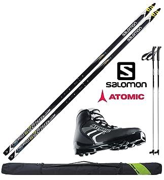 Langlaufski mit Bindung und Stöcken Ski-Sets Skisport & Snowboarding