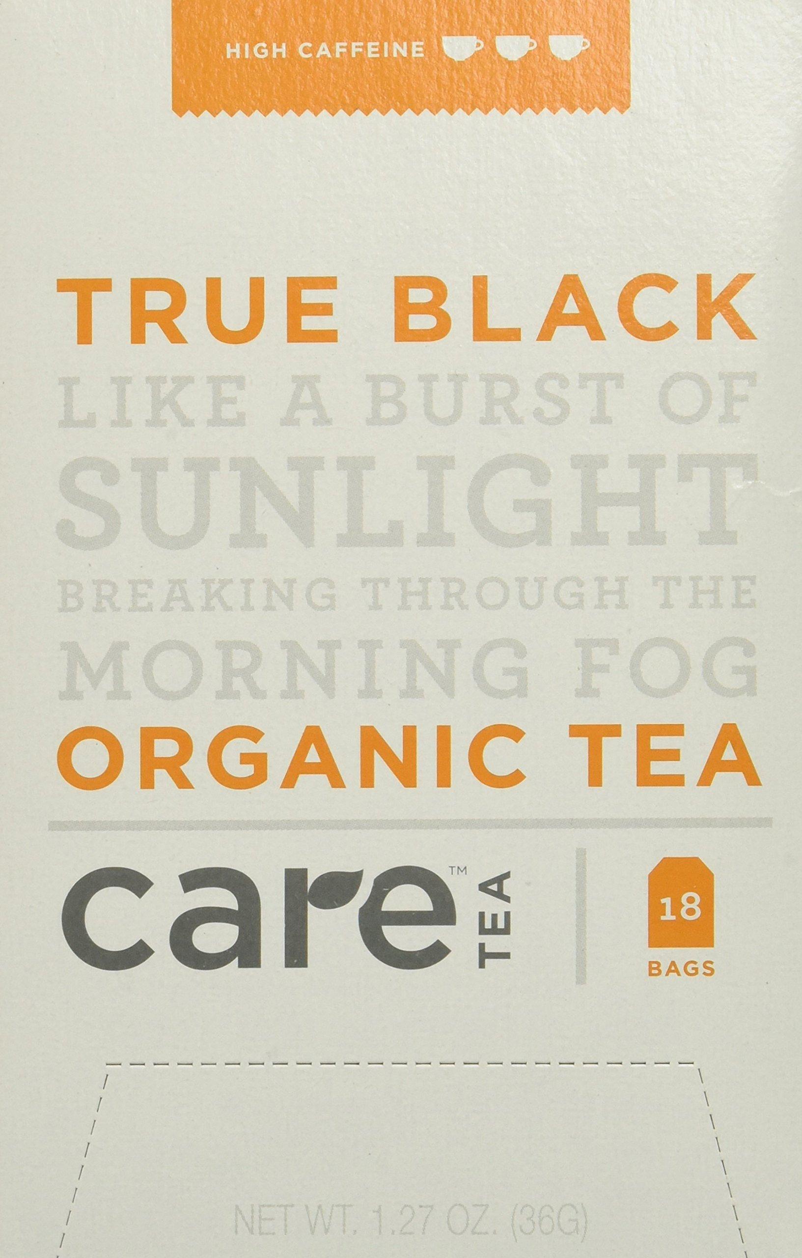 Care Tea True Black, 18 Count Box of Tea Bags (Pack of 6) (Packaging May Vary)