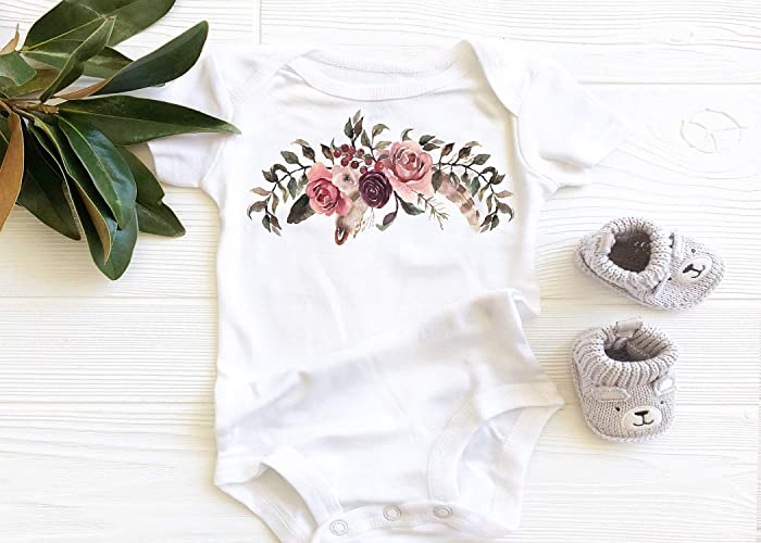 8bec187a4 Amazon.com: Maroon Floral Onesie, Baby Girl Onesie, Baby Bodysuit, Onesie,  Baby Apparel, Cute Baby Onesie, Colorful Flowers Bodysuit, Maroon Flowers  and Ivy ...
