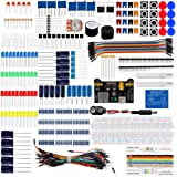 Keywish Electronics Basic Starter Kit w/Breadboard,Jumper wires,Color Led,Resistors,Capacitor,Buzzer for Arduino UNO R3 Mega2560 Mega328 Nano