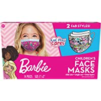 Just Play Children's Single Use Face Mask, Barbie, 14 Count, Small, Ages 2-7, Multicolor (61052)