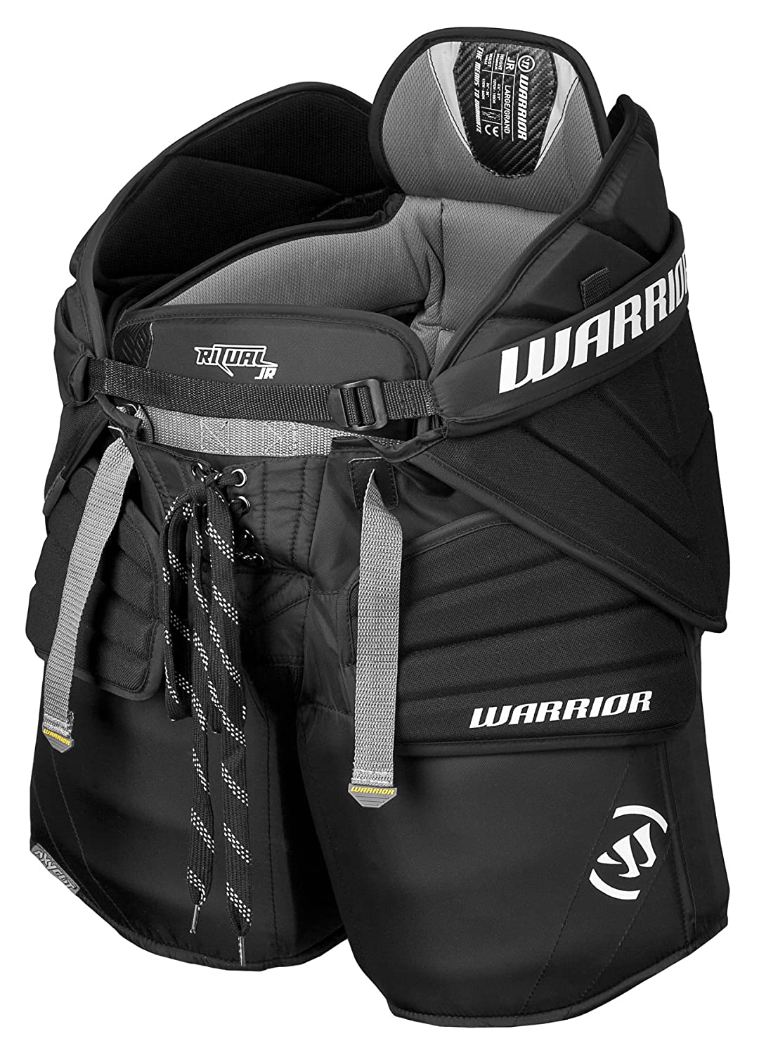 Warrior Junior Ritual Goalie Hockey Pants, Black, Large/X-Large GPNTJR3 L/XL