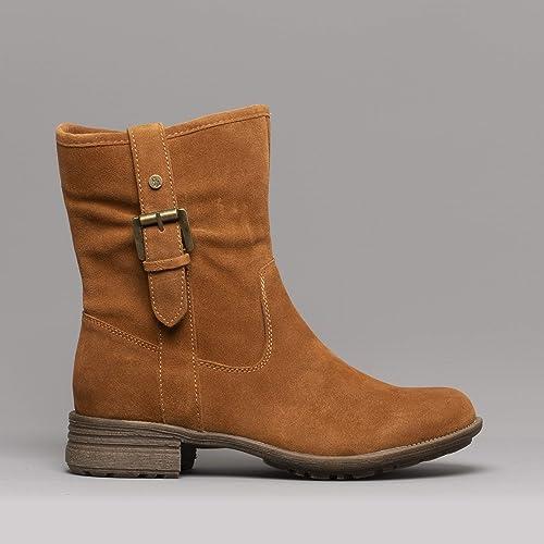 Hush Puppies Collie Calf Boot, Botas Efecto Arrugado para Mujer, Marrón (Tan 000), 42 EU: Amazon.es: Zapatos y complementos