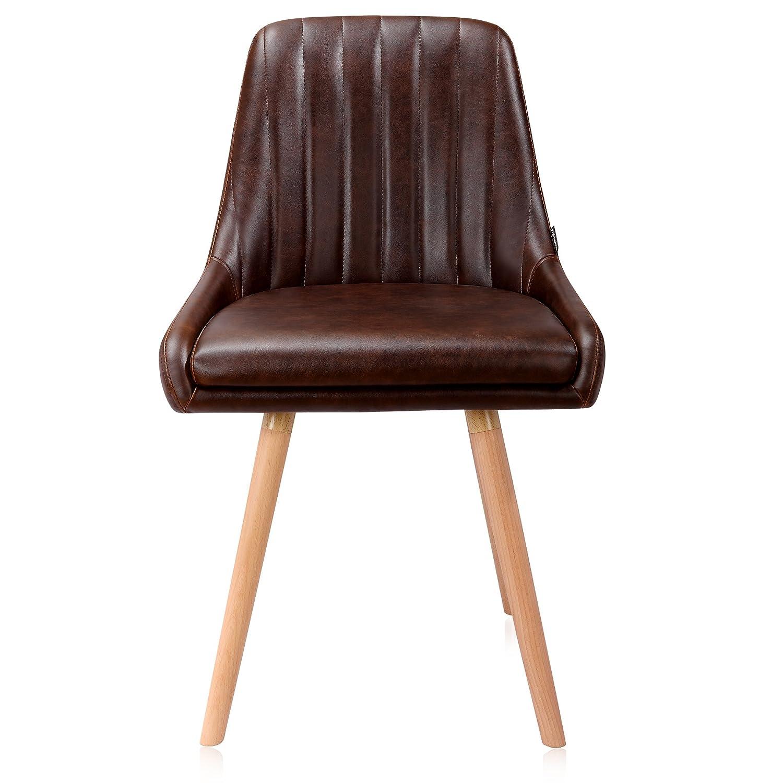 Amazon.com: Krei hejmo sillones en tela/cuero de madera ...