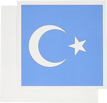 bandera que tiene una luna y estrella