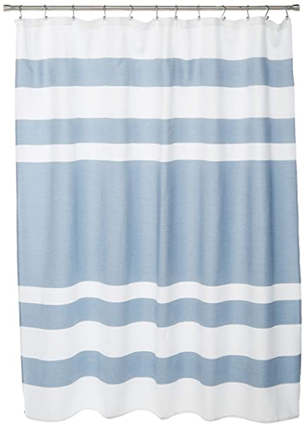 Madison Park Spa Waffle Weave Striped Fabric Shower Curtain Classic Curtains For Bathroom