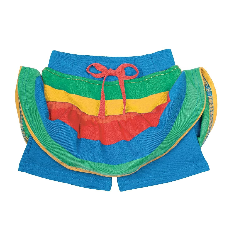 unter dem Rock ist eine Shorts versteckt Kurze Hosen-Rock aus Bio-Baumwolle Frugi