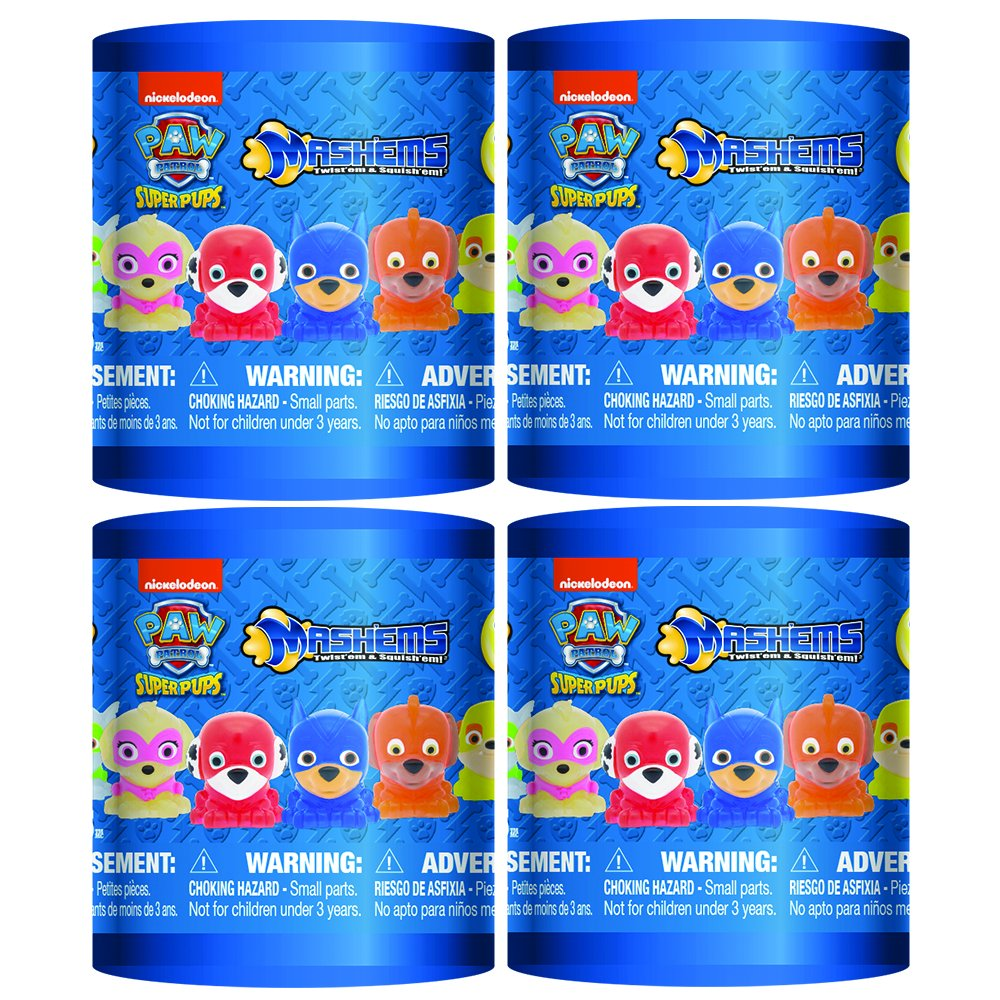 Mash'Ems - Paw Patrol 4 Pack (4 Blind Capsules Per Order) Squishy Collectible Toy by Basic Fun (Image #1)
