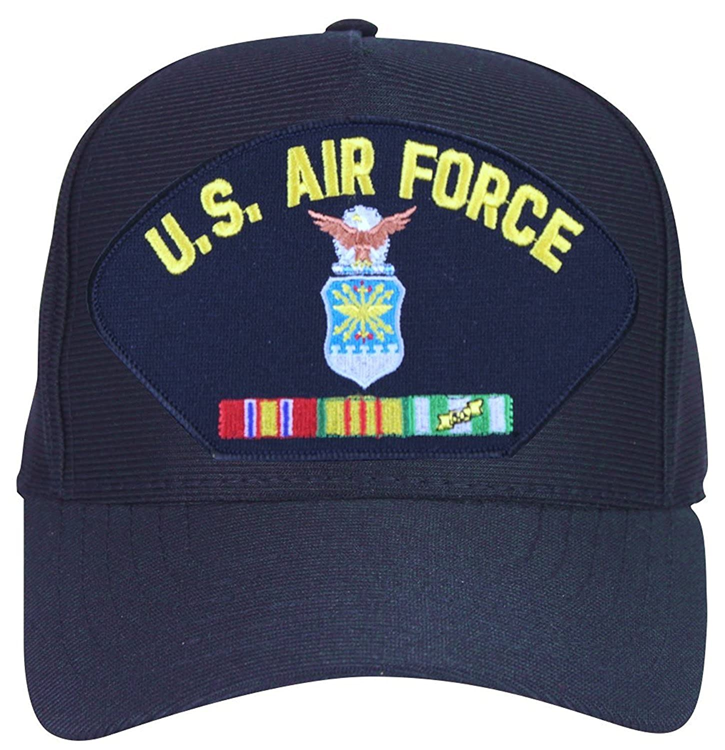 83d93bf1ec763 Armed Forces Depot U.S Air Force With Crest and Vietnam Veteran Ribbons  Baseball Cap. Navy Blue. mase In USA