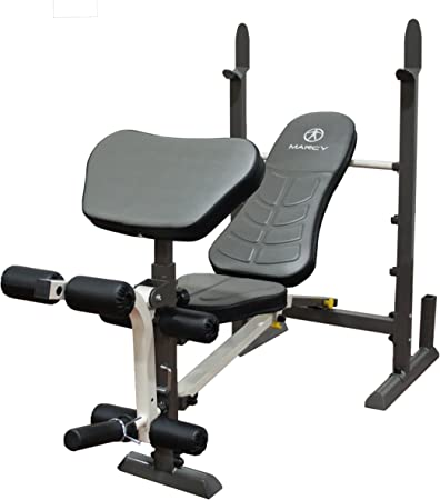 side facing marcy mwb-20100 folding standard weight bench