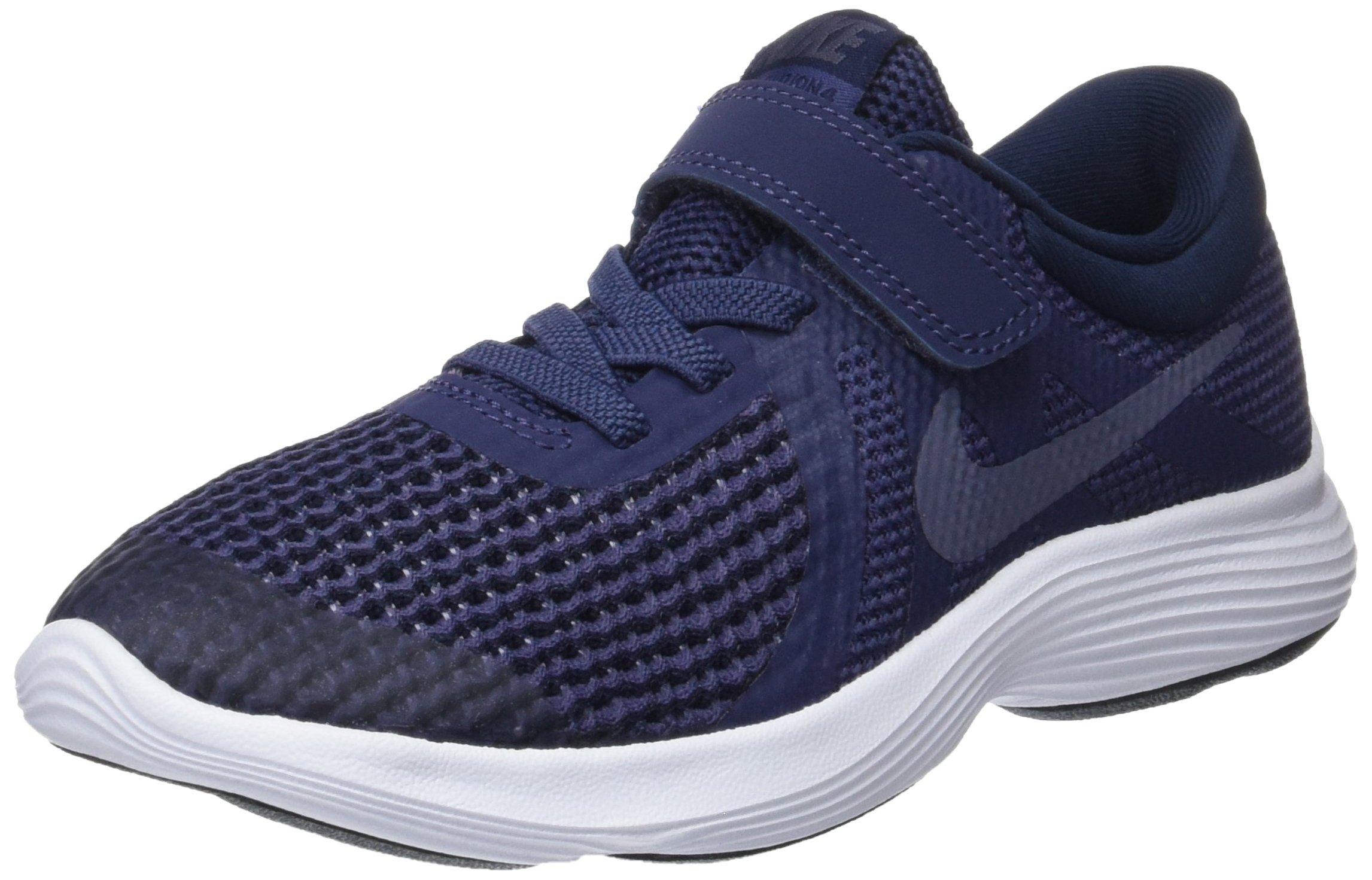 Nike Boys' Revolution 4 (PSV) Running Shoe, Neutral Indigo/Light Carbon-Obsidian, 10.5C Regular US Little Kid by Nike