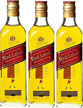 Johnnie Walker Red Whisky Escocés - pack de 3 x 200 ml: Amazon ...