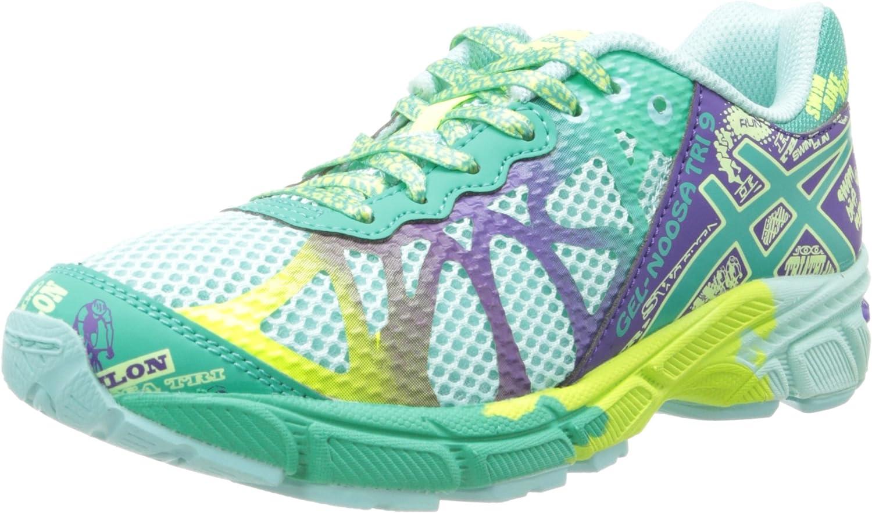 Zapatillas de running Asics Gel-Noosa TRI 9 GS (Ni?o peque?o / Big Kid), Azul hielo / Esmeralda / P¨²rpura, 7 M US Big Kid: Amazon.es: Zapatos y complementos